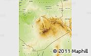Physical Map of Tamanrasset