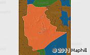 Political Map of Tamanrasset, darken