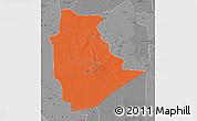 Political Map of Tamanrasset, desaturated