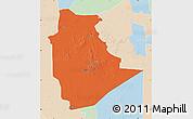 Political Map of Tamanrasset, lighten