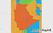 Political Map of Tamanrasset