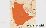 Political Map of Tamanrasset, satellite outside