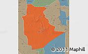 Political Map of Tamanrasset, semi-desaturated