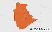 Political Map of Tamanrasset, single color outside