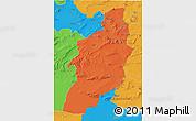 Political 3D Map of Tebessa