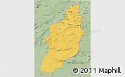 Savanna Style 3D Map of Tebessa