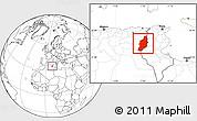 Blank Location Map of Tebessa