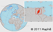 Gray Location Map of Tebessa