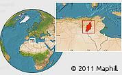 Satellite Location Map of Tebessa