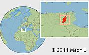 Savanna Style Location Map of Tebessa