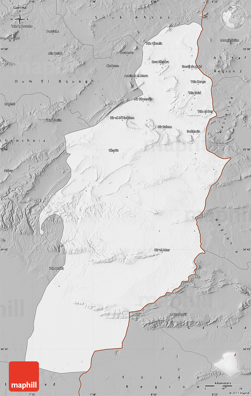 Gray Map of Tebessa