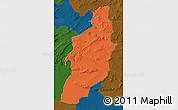 Political Map of Tebessa, darken