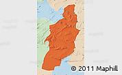 Political Map of Tebessa, lighten