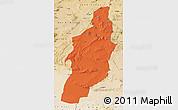 Political Map of Tebessa, satellite outside