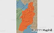 Political Map of Tebessa, semi-desaturated