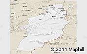 Classic Style Panoramic Map of Tebessa