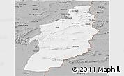 Gray Panoramic Map of Tebessa