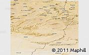 Satellite Panoramic Map of Tebessa