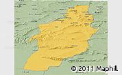 Savanna Style Panoramic Map of Tebessa