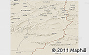 Shaded Relief Panoramic Map of Tebessa