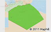 Political 3D Map of Tendouf, lighten