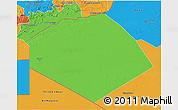 Political 3D Map of Tendouf