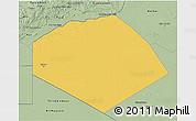 Savanna Style 3D Map of Tendouf