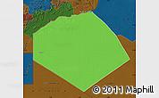 Political Map of Tendouf, darken