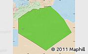 Political Map of Tendouf, lighten