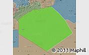 Political Map of Tendouf, semi-desaturated
