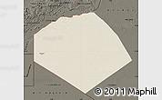 Shaded Relief Map of Tendouf, darken