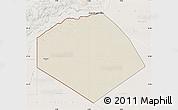 Shaded Relief Map of Tendouf, lighten