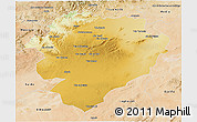 Physical 3D Map of Tiaret, satellite outside