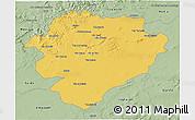 Savanna Style 3D Map of Tiaret
