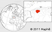 Blank Location Map of Tiaret