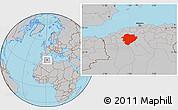 Gray Location Map of Tiaret