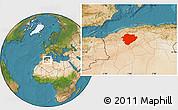 Satellite Location Map of Tiaret