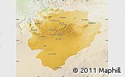 Physical Map of Tiaret, lighten