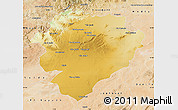 Physical Map of Tiaret, satellite outside