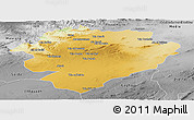 Physical Panoramic Map of Tiaret, desaturated