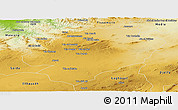 Physical Panoramic Map of Tiaret