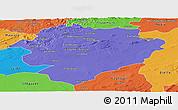Political Panoramic Map of Tiaret