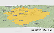 Savanna Style Panoramic Map of Tiaret