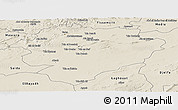 Shaded Relief Panoramic Map of Tiaret