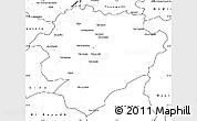 Blank Simple Map of Tiaret
