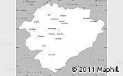 Gray Simple Map of Tiaret