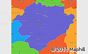 Political Simple Map of Tiaret