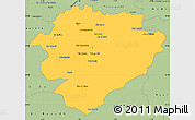 Savanna Style Simple Map of Tiaret