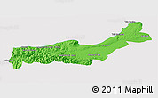 Political 3D Map of Tipaza, cropped outside