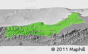 Political 3D Map of Tipaza, desaturated